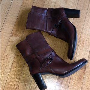 Brown leather boots, Sesto Meucci, 8 1/2 M Italian